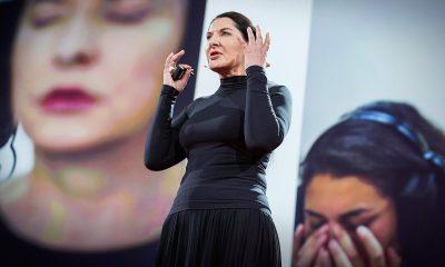 Marina Abramovic on stage