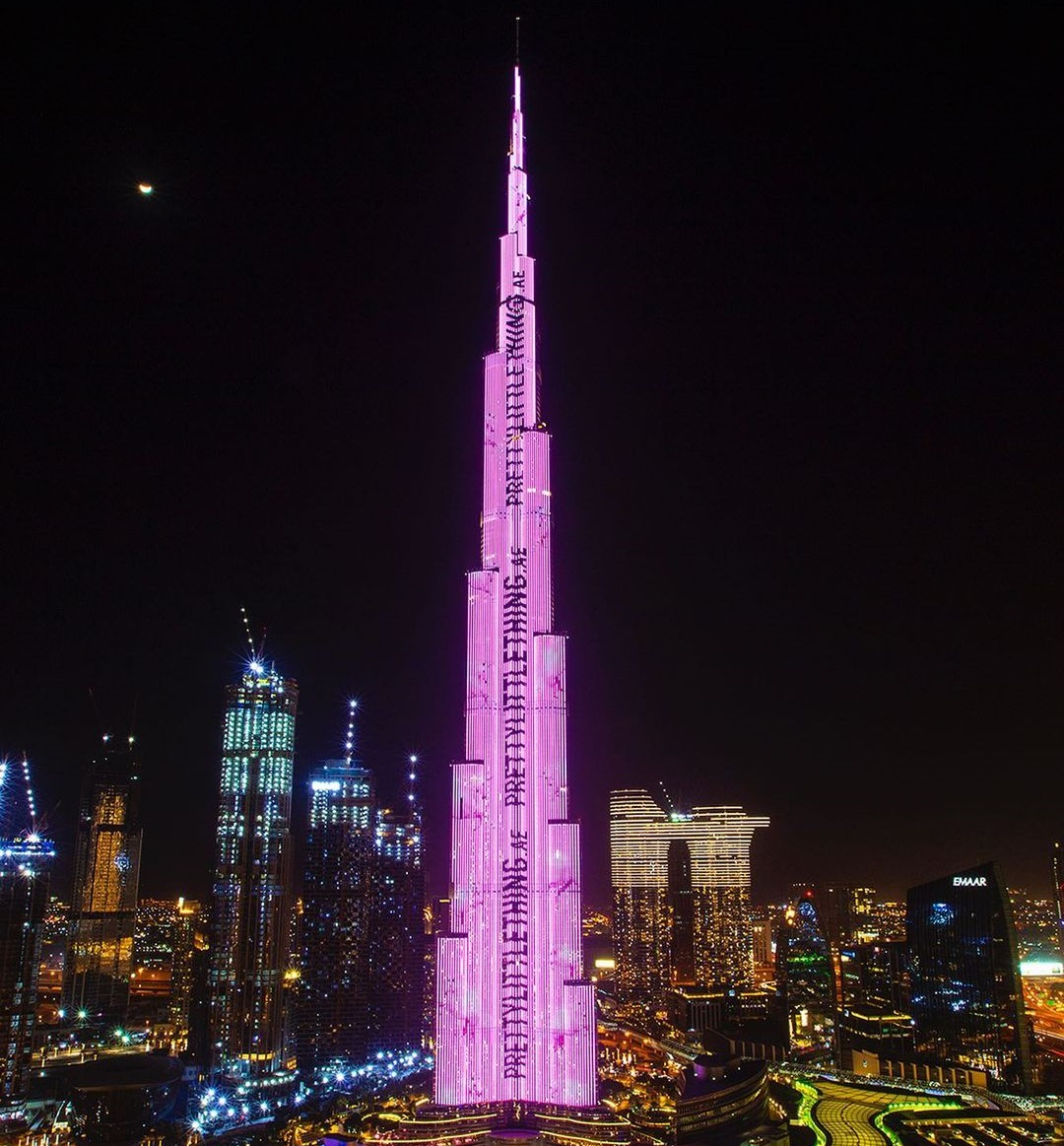 Burj Khalifa turned in pink colour for branded launch