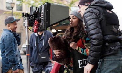 Filmmaker Maria Soccor directing on set