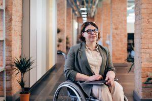 Entrepreneur woman in a wheelchair