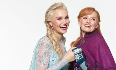 Frozen the Musical actors Samantha Barks and Stephanie McKeon