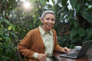 Entrepreneur working remotely