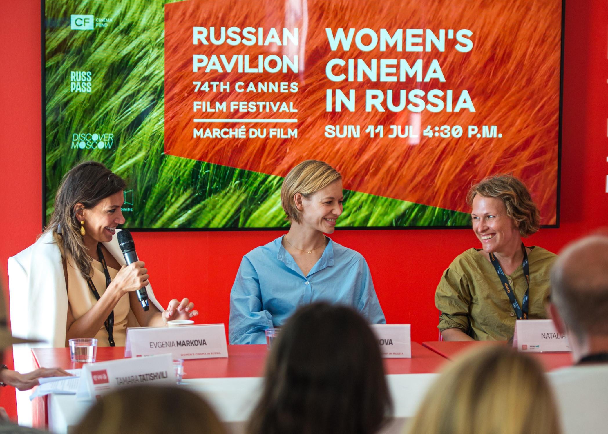 Female filmmakers discuss women in cinema during the Cannes Film Festival