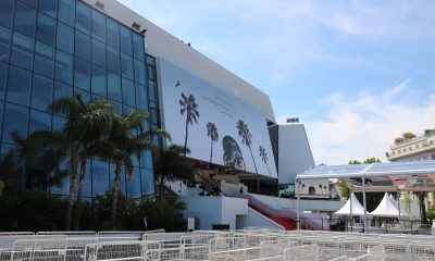 Facade of the venue where the 74th Cannes Film Festival is taking place in 2021