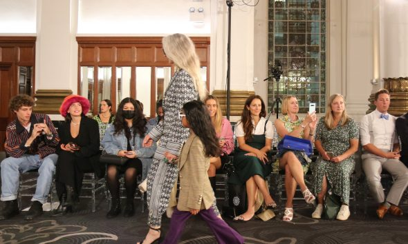 Model showcase new collection of fashion label Helen Anthony